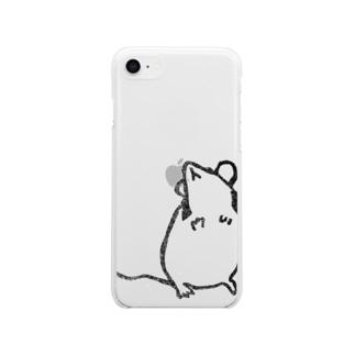 おやつくださいパンダマウス Soft Clear Smartphone Case