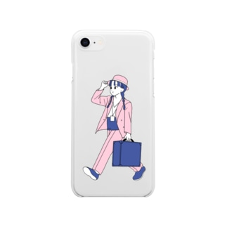レズっ娘寅次郎 Soft clear smartphone cases