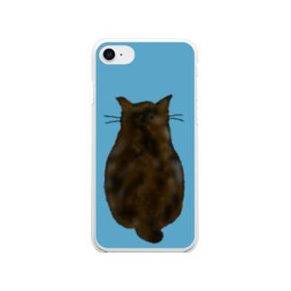 ネコの背中 Soft clear smartphone cases