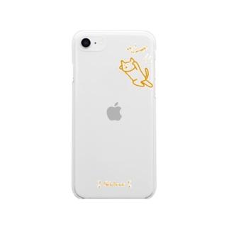 りんごに威嚇する猫(iPhoneSE第2世代専用) Soft Clear Smartphone Case