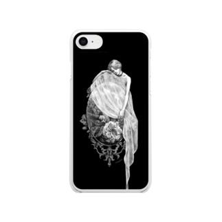 鏡の精 Soft clear smartphone cases