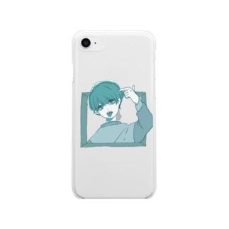 ここにいるよ Soft clear smartphone cases