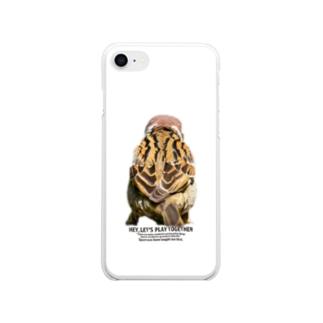 すずめのせなか Soft clear smartphone cases