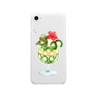 ゴーヤーパフェ Soft clear smartphone cases