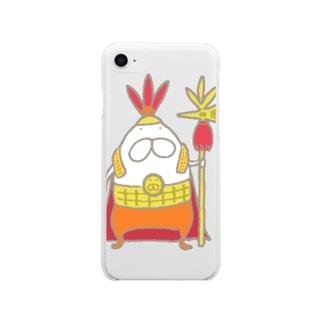 ねこタイツとインカ帝国 Soft clear smartphone cases