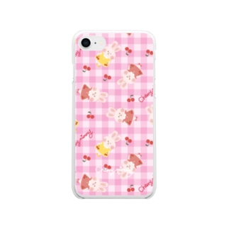 Cherryチェックソフトスマホケース【cherrymimmy】 Soft clear smartphone cases
