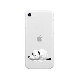 つぶれ犬 Soft clear smartphone cases