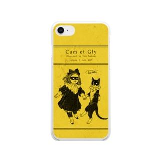 キャムちゃんグリちゃん Soft clear smartphone cases