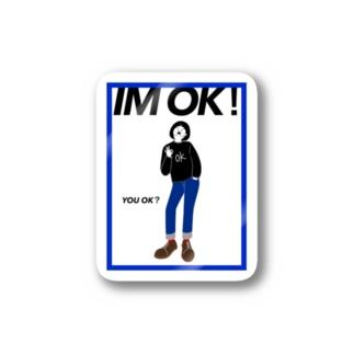 IM OK ステッカー