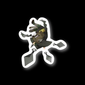 childrop's / ランドセルを背負ったねこのコカゲの落葉ノ舞 Stickers