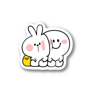 Spoiled Rabbit - Close to You / あまえんぼうさちゃん くっつき  ステッカー
