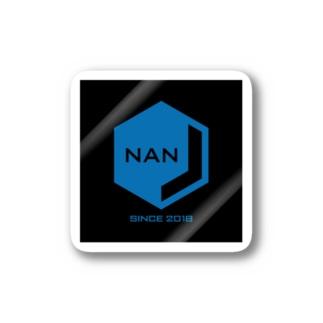 NANJCOIN公式ロゴ入り(黒背景) ステッカー