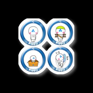 ビケ@BKF48 補欠のりっぴぃくん4種類 ステッカー