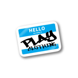 PLAY clothingのHELLO MY NAME IS PLAY  B ② Stickers