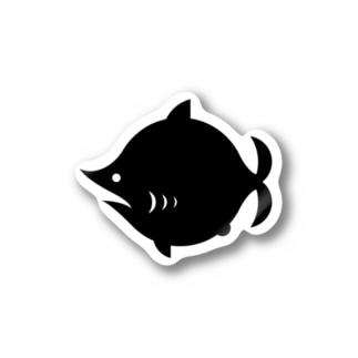 劇団鮫軟骨ロゴステッカー Stickers
