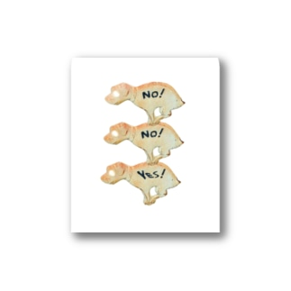 No! No! YES! Stickers