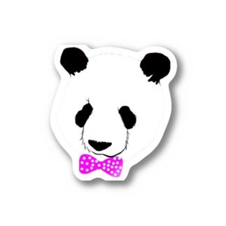 パンダピンクリボン🐼🎀ステッカー Stickers