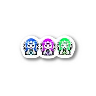 三つ目オニ子ちゃん。 Stickers