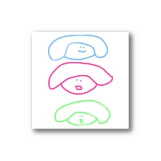かみのけおおこカラフルシリーズ Stickers