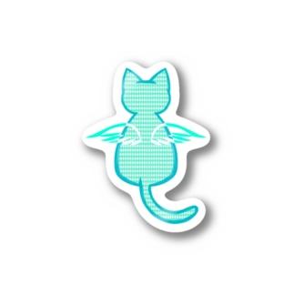 Angel Cat (グリーン) ステッカー