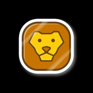 willnetのSavanna lion face ステッカー