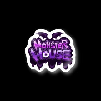 悪天🦄✨のMONSTER HOUSE LOGO Stickers