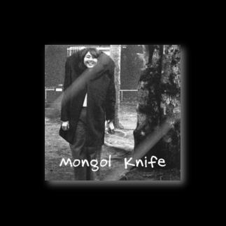 nuwtonの小顔のモンゴルナイフ ステッカー