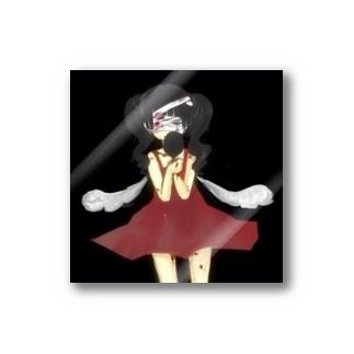 闇をみすえる症女 Stickers