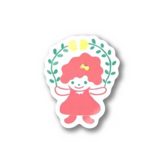 Flower GirLLL Stickers