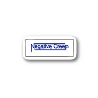 Negative creepロゴステッカー Stickers