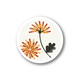 【まあるい花札】菊 ステッカー