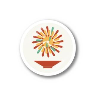 【まあるい花札】菊に盃 Stickers