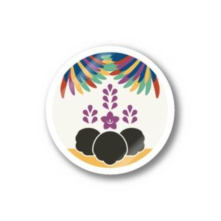 日下田の【まあるい花札】桐に鳳凰 Stickers