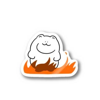 燃え盛るクマ ステッカー