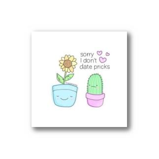 サボテンとひまわりちゃん🌻iPhoneケース🎀 Stickers