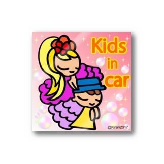 KIDS-in car ステッカー