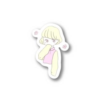 ハルイロ女の子 Stickers