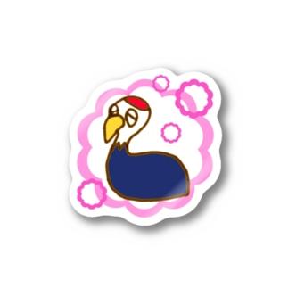 ひとやすみナベヅル Stickers