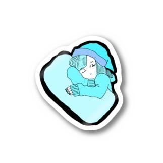 眠い Stickers
