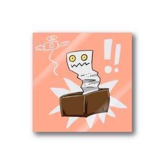 「ゆるい妖怪」レシート虫のシール Stickers
