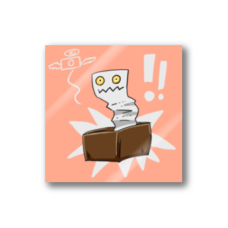 ◆だしのや◆の「ゆるい妖怪」レシート虫のシール Stickers