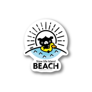 octon Slow life Island BEACH #basic Stickers