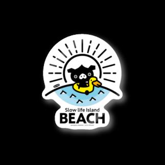 はちエンピツのocton Slow life Island BEACH #basic Stickers