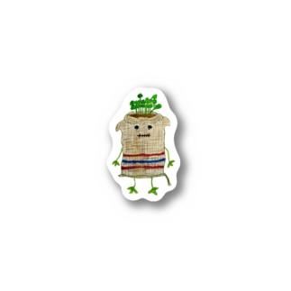 ズタ袋イヌ Stickers
