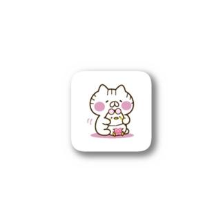 あひる「すき」ねことコラボ Stickers
