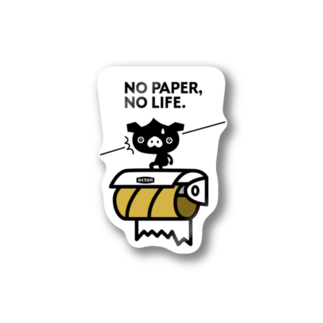 はちエンピツのocton NO PAPER, NO LIFE. #basic Stickers