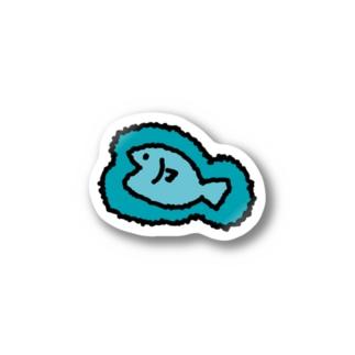 フェルトみたいなシール(おさかな) Stickers