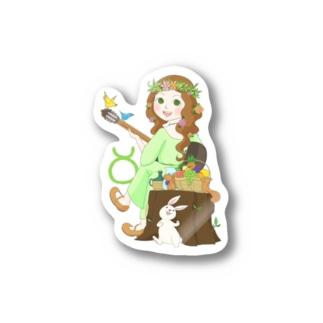 Astrological Carnivalの12星座ガールズ・No.02「おうし座」 Stickers