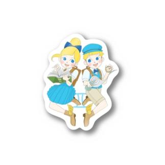Astrological Carnivalの12星座ガールズ・No.03「ふたご座」 Stickers