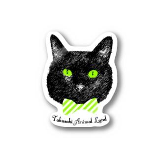 蝶ネクタイ黒猫 ステッカー